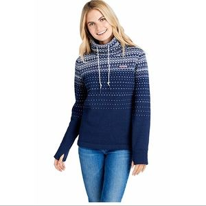Vineyard Vines Fair Isle Funnel Neck Sz Xs
